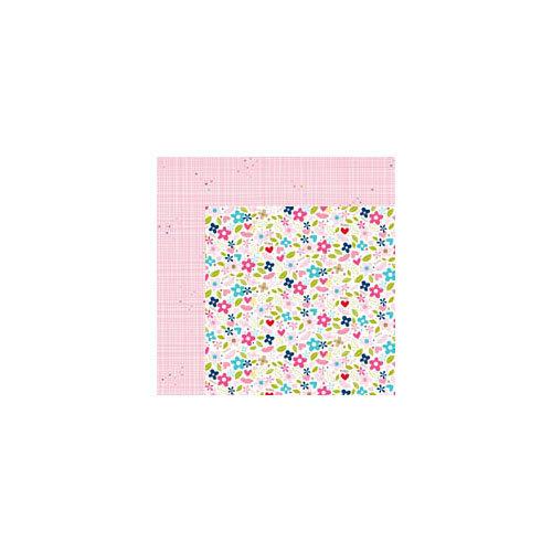 Bella Blvd - Kiss Me Collection - 12 x 12 Double Sided Paper - Bouquet Kisses