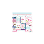 Bella Blvd - Kiss Me Collection - 12 x 12 Double Sided Paper - Borders and Cute Cuts