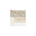 Bella Blvd - Sophisticates Collection - 12 x 12 Cardstock Stickers - Alphabet - Brown-Cream