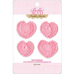 Bella Blvd - Sophisticates Collection - Crochet Hearts - Cotton Candy