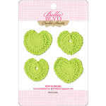 Bella Blvd - Sophisticates Collection - Crochet Hearts - Pickle Juice
