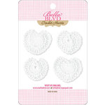 Bella Blvd - Sophisticates Collection - Crochet Hearts - White