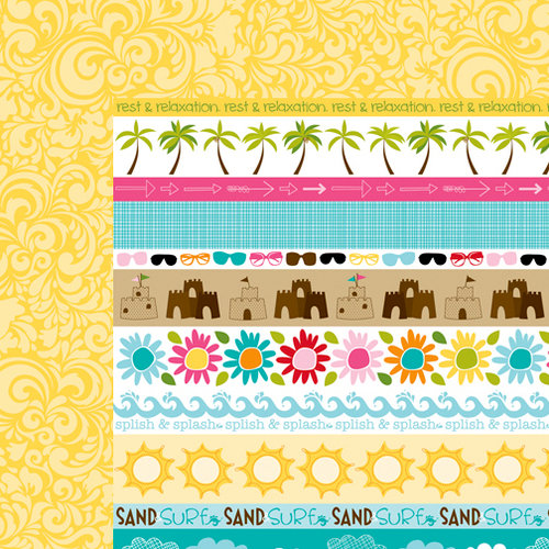 Bella Blvd - Sand and Surf Collection - 12 x 12 Double Sided Paper - Borders