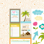 Bella Blvd - Sand and Surf Collection - 12 x 12 Double Sided Paper - Cute Cuts
