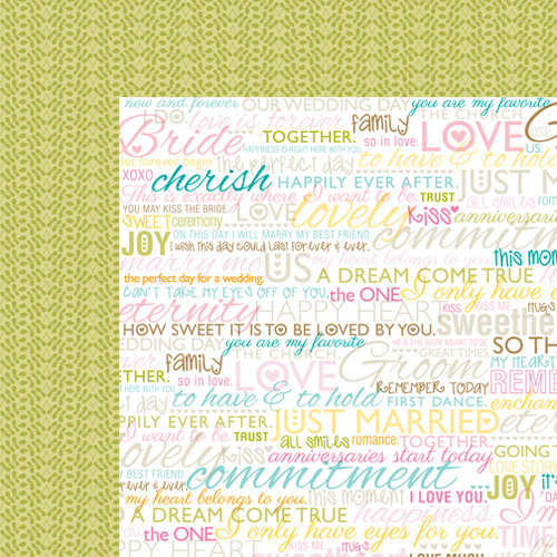 Bella Blvd - Love and Marriage Collection - 12 x 12 Double Sided Paper - Vows