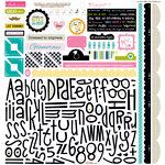 Bella Blvd - Engaged At Last Collection - 12 x 12 Cardstock Stickers - Alphabet and Bits