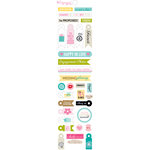 Bella Blvd - Engaged At Last Collection - Cardstock Stickers - Miniatures