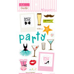 Bella Blvd - Engaged At Last Collection - Ciao Chip - Self Adhesive Chipboard - Icons - Bachelor and Bachelorette