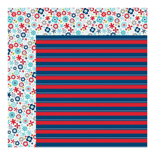 Bella Blvd - All American Collection - 12 x 12 Double Sided Paper - Boom Boom Pow