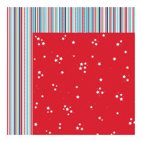 Bella Blvd - All American Collection - 12 x 12 Double Sided Paper - Seeing Stars