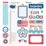 Bella Blvd - All American Collection - 12 x 12 Cardstock Stickers - Just Write