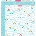 Bella Blvd - Play Date Collection - 12 x 12 Double Sided Paper - Chasing Rainbows
