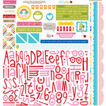 Bella Blvd - Play Date Collection - 12 x 12 Cardstock Stickers - Alphabet and Bits