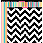 Bella Blvd - Daily Chevies and Everyday Bits Collection - 12 x 12 Double Sided Paper - Chevy - Oreo