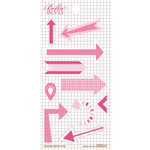 Bella Blvd - Daily Chevies and Everyday Bits Collection - Cardstock Stickers - Arrows - Pink