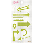 Bella Blvd - Daily Chevies and Everyday Bits Collection - Cardstock Stickers - Arrows - Pickle Juice