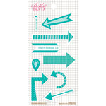 Bella Blvd - Daily Chevies and Everyday Bits Collection - Cardstock Stickers - Arrows - Gulf