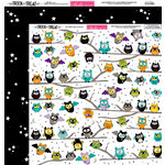 Bella Blvd - Trick or Treat Collection - Halloween - 12 x 12 Double Sided Paper - Happy Owlween
