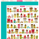 Bella Blvd - Christmas Countdown Collection - 12 x 12 Double Sided Paper - City Sidewalks