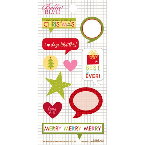Bella Blvd - Christmas Countdown Collection - Cardstock Stickers - Captions