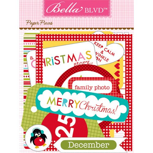 Bella Blvd - Christmas Countdown Collection - Paper Pieces - Die Cut Cardstock Pieces