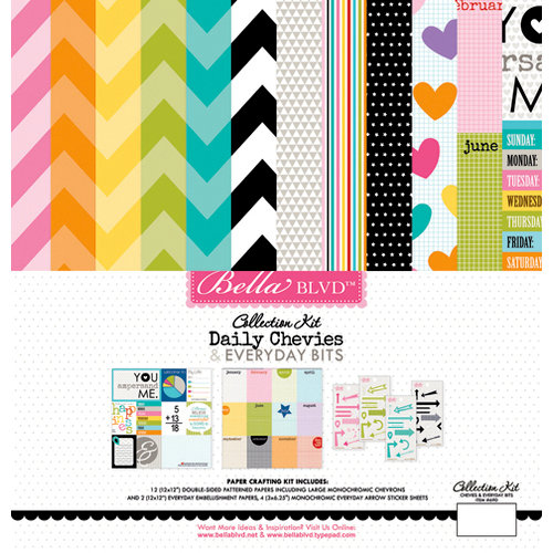 Bella Blvd - Daily Chevies and Everyday Bits Collection - 12 x 12 Collection Kit