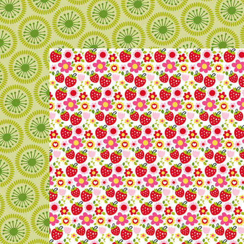Bella Blvd - Summer Squeeze Collection - 12 x 12 Double Sided Paper - Strawberry Squeeze