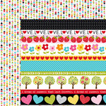 Bella Blvd - Summer Squeeze Collection - 12 x 12 Double Sided Paper - Borders