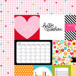Bella Blvd - Summer Squeeze Collection - 12 x 12 Double Sided Paper - Daily Details