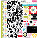 Bella Blvd - Scattered Sprinkles Collection - 12 x 12 Cardstock Stickers - Treasures and Text