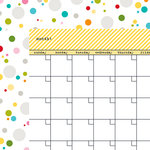 Bella Blvd - Classic Calendars Collection - 12 x 12 Double Sided Paper - Bell Pepper Calendar