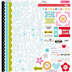 Bella Blvd - Classic Calendars Collection - 12 x 12 Cardstock Stickers - Treasures and Text