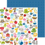 Bella Blvd - Tiny Tots Collection - 12 x 12 Double Sided Paper - Toy Chest