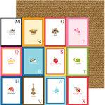 Bella Blvd - Tiny Tots Collection - 12 x 12 Double Sided Paper - Flashcards M-X
