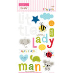 Bella Blvd - Tiny Tots Collection - Ciao Chip - Self Adhesive Chipboard - Icons