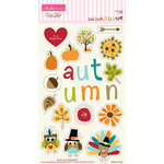 Bella Blvd - Hello Autumn Collection - Ciao Chip - Self Adhesive Chipboard - Icons