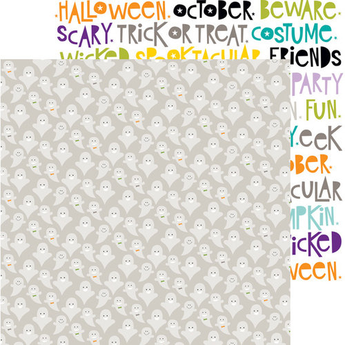 Bella Blvd - Halloween Magic Collection - 12 x 12 Double Sided Paper - Ghosties