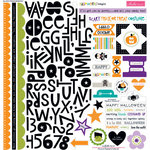 Bella Blvd - Halloween Magic Collection - 12 x 12 Cardstock Stickers - Treasures and Text