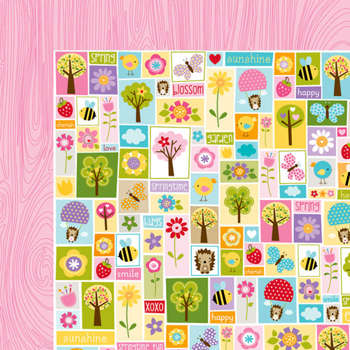 Bella Blvd - Simply Spring Collection - 12 x 12 Double Sided Paper - Spring Patchwork