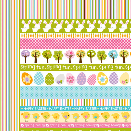 Bella Blvd - Simply Spring Collection - 12 x 12 Double Sided Paper - Borders