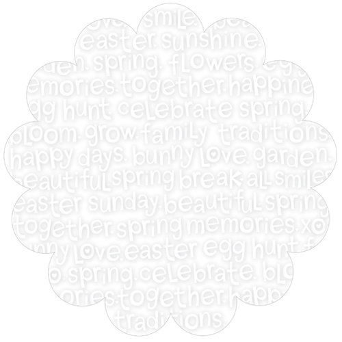 Bella Blvd - Simply Spring Collection - Invisibles - 12 x 12 Die Cut Paper - Spring Scramble