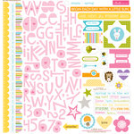 Bella Blvd - Simply Spring Collection - 12 x 12 Cardstock Stickers - Treasures and Text