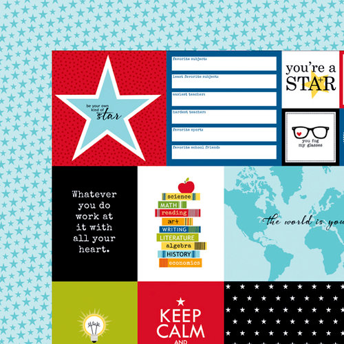 Bella Blvd - Star Student Collection - 12 x 12 Double Sided Paper - Daily Details