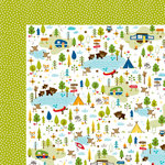Bella Blvd - Campout Collection - 12 x 12 Double Sided Paper - Let's Go Camping