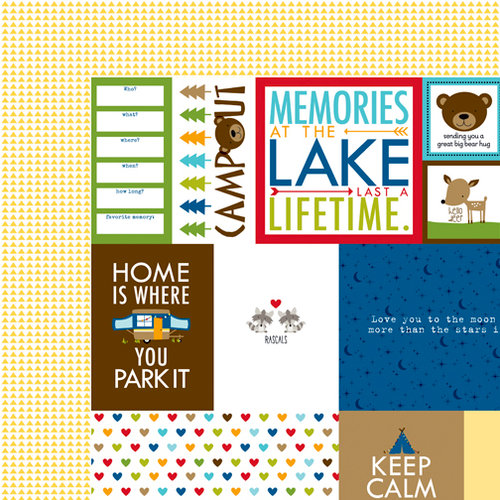 Bella Blvd - Campout Collection - 12 x 12 Double Sided Paper - Daily Details