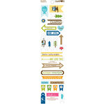 Bella Blvd - Campout Collection - Cardstock Stickers - Trinkets