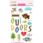 Bella Blvd - Campout Collection - Ciao Chip - Self Adhesive Chipboard - Icons