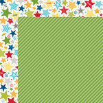 Bella Blvd - Color Chaos Collection - 12 x 12 Double Sided Paper - Guacamole Strandz