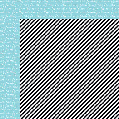 Bella Blvd - Color Chaos Collection - 12 x 12 Double Sided Paper - Oreo Black Strandz
