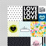 Bella Blvd - Color Chaos Collection - 12 x 12 Double Sided Paper - Daily Details